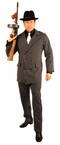Plus Size 6-Button Pinstriped Gangster Suit Costume