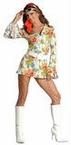 Plus Size 70's Sweetie Go Go Dress Costume