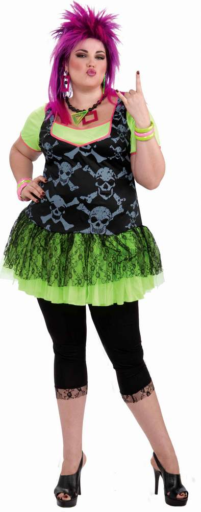 ad4637be709 Plus Size Adult 80 s Punk Lady Costume - Candy Apple Costumes - 80 s ...