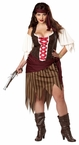 Plus Size Adult Buccaneer Beauty Costume