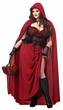 Plus Size Adult Dark Red Riding Hood Costume