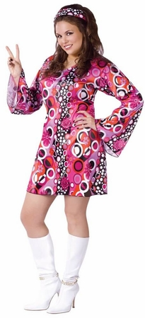 Plus Size Adult Feelin' Groovy 60s Costume