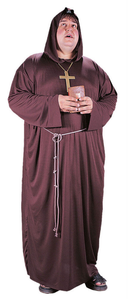 07d1f6d21a288 Plus Size Adult Monk Costume - Candy Apple Costumes - 3X and 4X ...