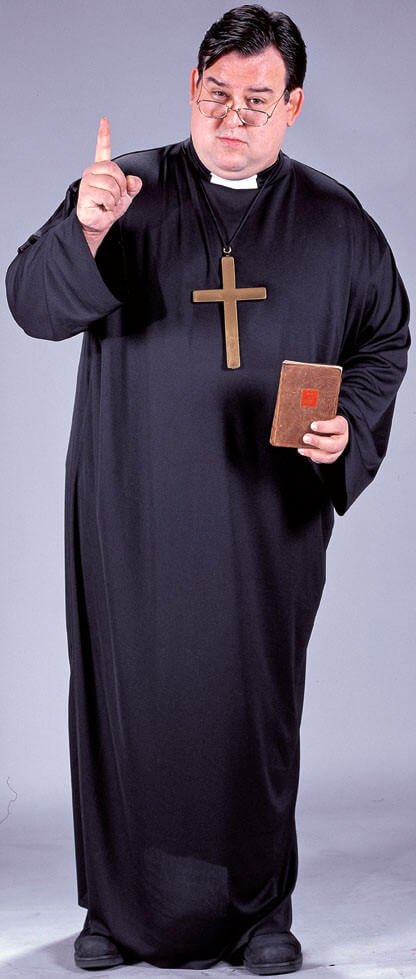 0be26f3ad521b Plus Size Adult Priest Costume - Candy Apple Costumes - 3X and 4X Costumes