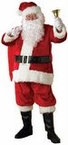 Plus Size Adult Red Premier Plush Santa Claus Suit