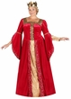 Plus Size Adult Red Renaissance Queen Deluxe Costume