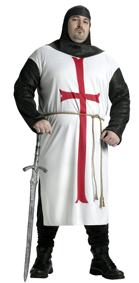 Plus Size Adult Templar Knight Costume  sc 1 st  Candy Apple Costumes & Plus Size Adult Templar Knight Costume - Castles and Thrones Costumes