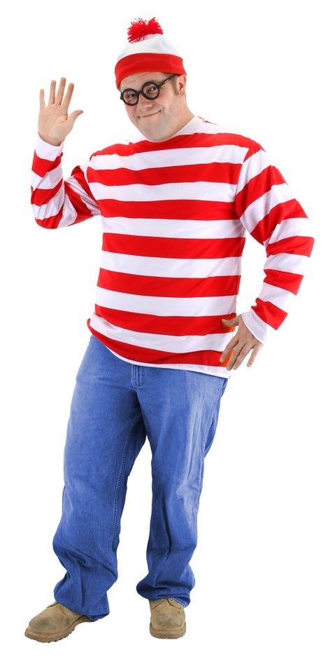 plus size adult wheres waldo costume - Best Halloween Costumes For Tall Guys