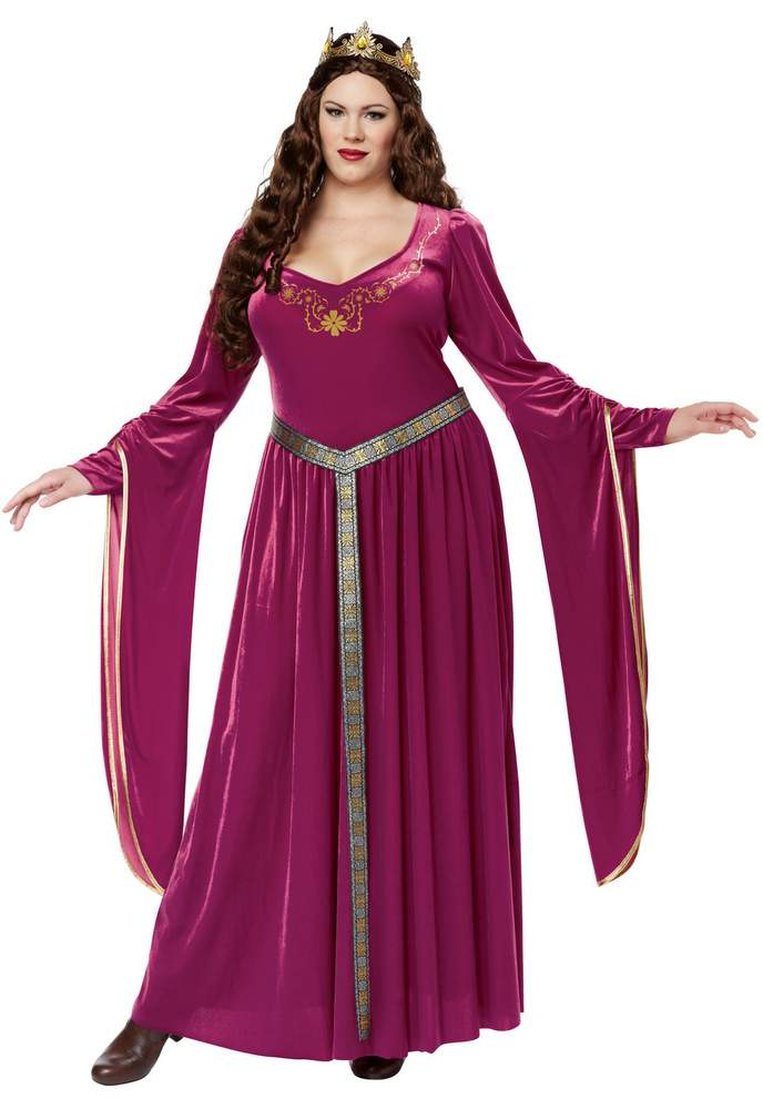 Plus Size Berry Lady Guinevere Renaissance Costume Candy Apple