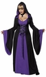 Plus Size Black/Purple Hooded Robe Costume