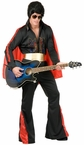 Plus Size Black Rhinestone Rock Star Costume