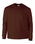 Plus Size Brown Long Sleeve Tee Shirt