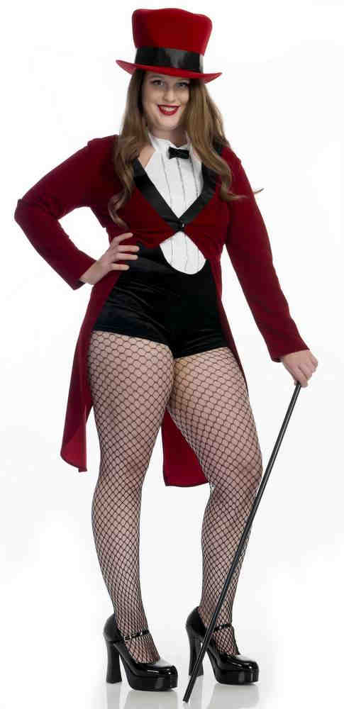 5a993cb4a832a Plus Size Circus Sweetie Sexy Red Tuxedo Costume - Candy Apple ...