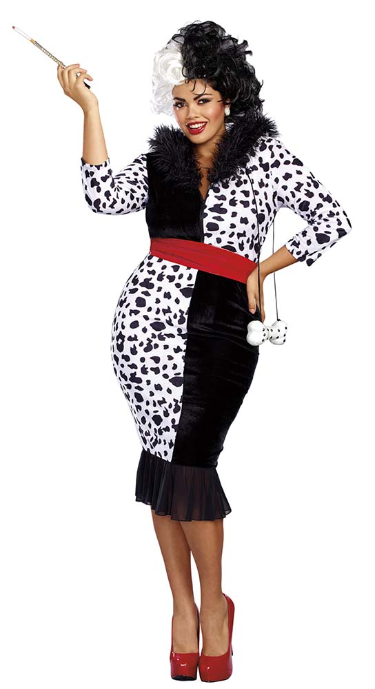 Plus Size Dalmatian Diva Costume - Candy Apple Costumes - Villain ... 112b8580b