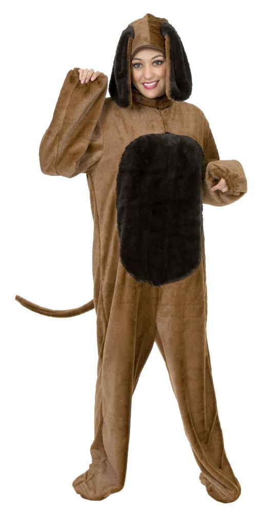 Deluxe Adult Big Brown Dog Costume  sc 1 st  Candy Apple Costumes & Deluxe Adult Big Dog Costume - Candy Apple Costumes - Funny Costumes