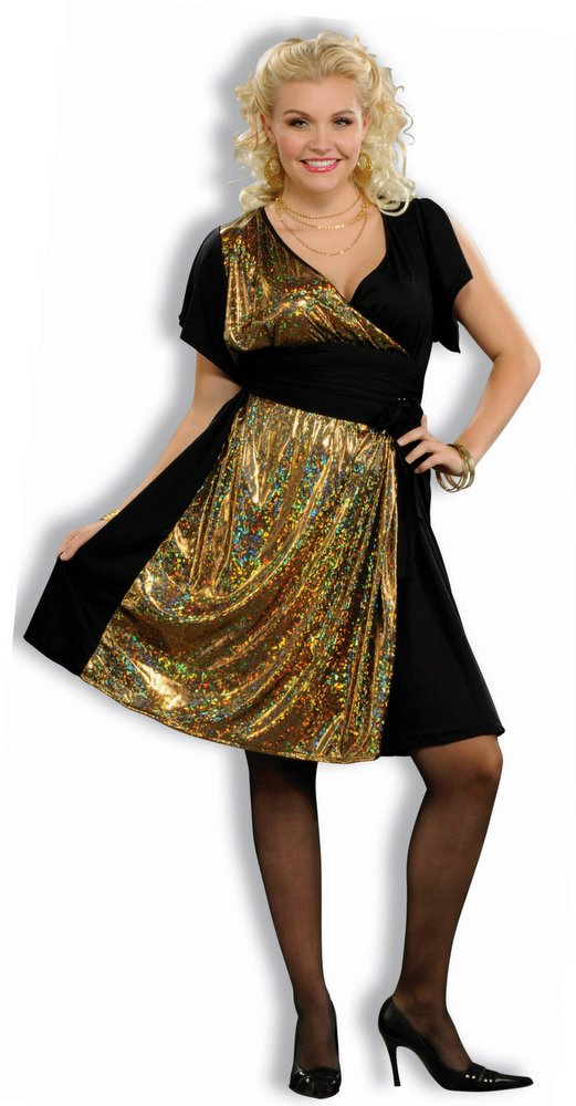 Plus Size Disco Gold Sexy 70s Costume Candy Apple Costumes Plus