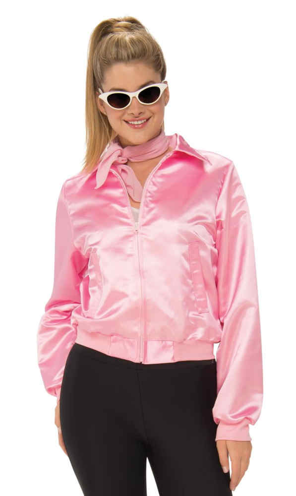 Plus Size Grease Pink Ladies Jacket Candy Apple Costumes
