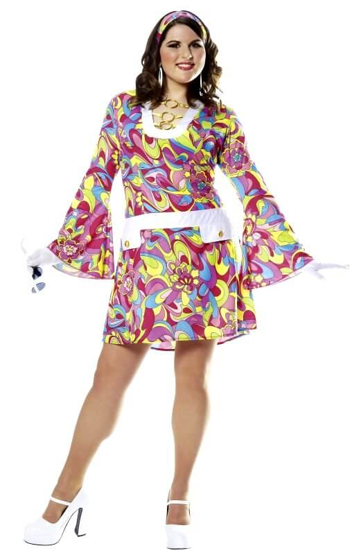 Plus Size Groovy Chic Go Go Costume  sc 1 st  Candy Apple Costumes & Plus Size Groovy Chic Go Go Costume - Candy Apple Costumes - 60u0027s ...