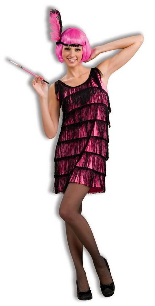 Jazzy Plus Size Hot Pink Flapper Costume