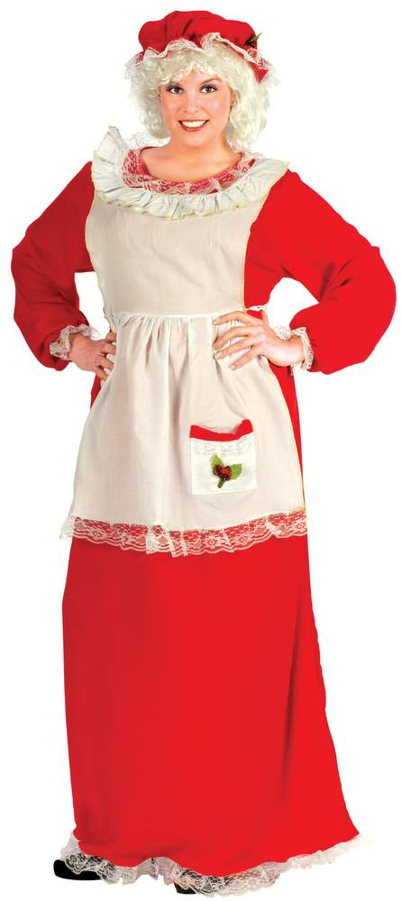 Plus Size Mrs Claus Costume Christmas Costumes