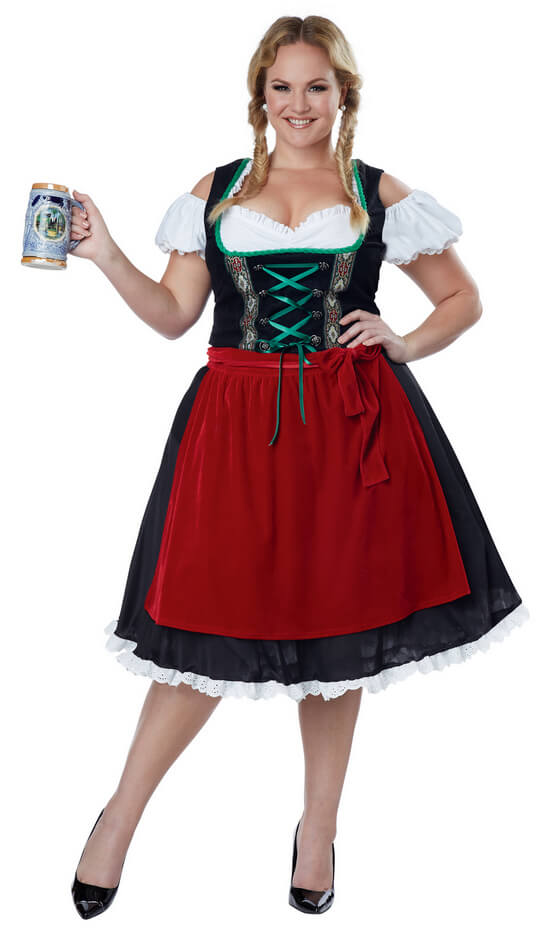 f7e0a2e21995a Plus Size Oktoberfest Fraulein Costume - Candy Apple Costumes - 3X and 4X  Costumes