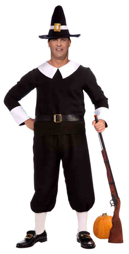 86edfabca1a Plus Size Pilgrim Man Costume - Candy Apple Costumes - Colonial Costumes