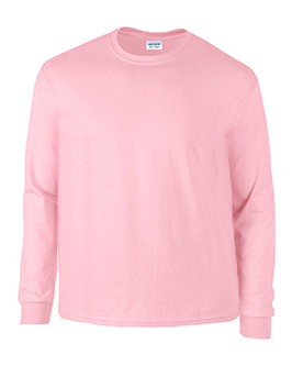 Plus Size Pink Long Sleeve Tee Shirt
