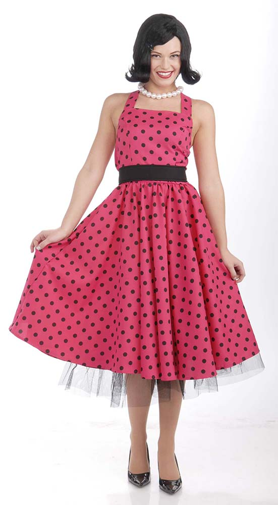 Plus Size Pretty in Polka Dots 50s Costume - Candy Apple Costumes ...