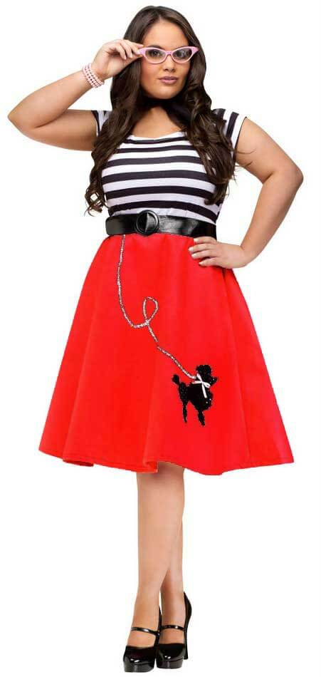 e54009947f9d3 Plus Size Red Poodle Dress - Candy Apple Costumes - 50 s Costumes