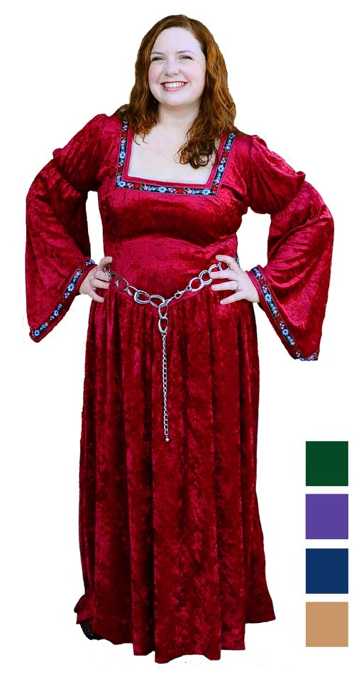 Plus Size Renaissance Bella Hooded Dress Costume - Gold ...