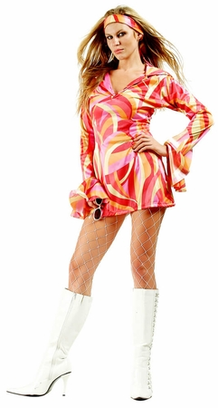 Adult Slick Chick Go Go Dress Costume