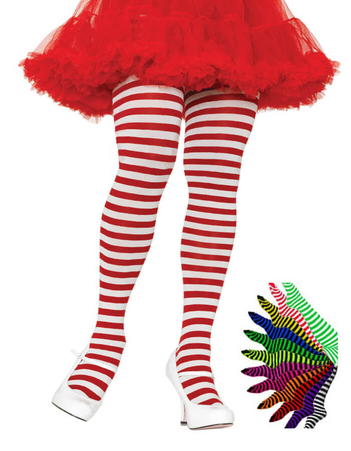 Plus Size Striped Tights - More Colors  sc 1 st  Candy Apple Costumes & Whereu0027s Waldo u0026 Wenda Costumes - CandyAppleCostumes.com