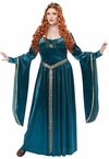 Plus Size Teal Lady Guinevere Renaissance Costume