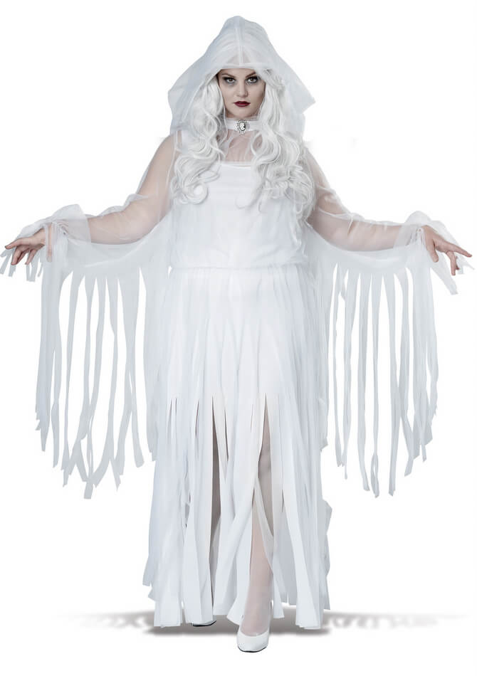 Plus Size Womenu0027s Ghostly Spirit Costume  sc 1 st  Candy Apple Costumes & Plus Size Womenu0027s Ghostly Spirit Costume - Candy Apple Costumes ...