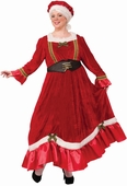 Plus Size Women's Red Velvet Classic Mrs. Claus Costume