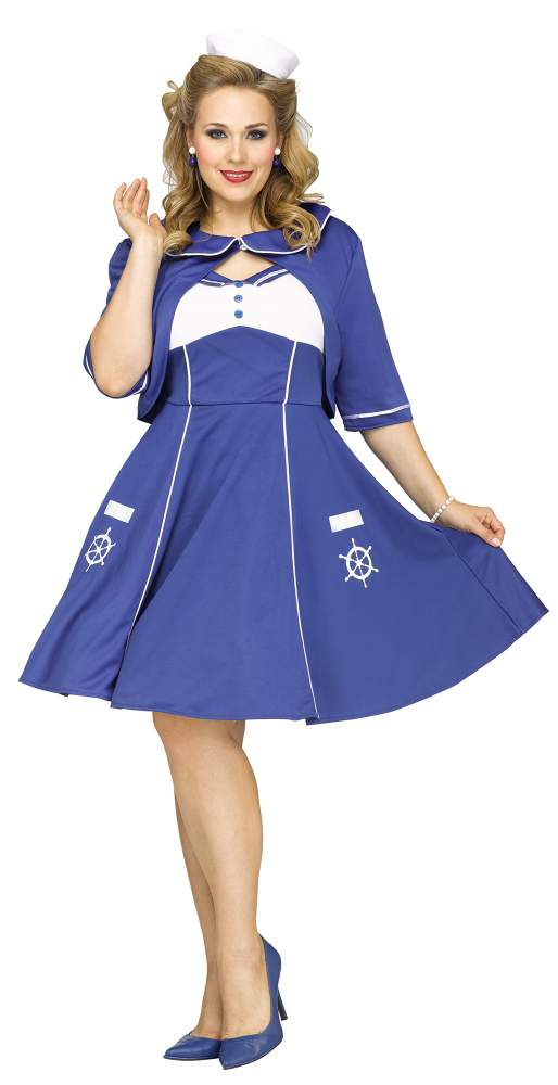 d91121894a987 Plus Size Women s Sweet Sailin  Costume - Candy Apple Costumes - 3X and 4X  Costumes