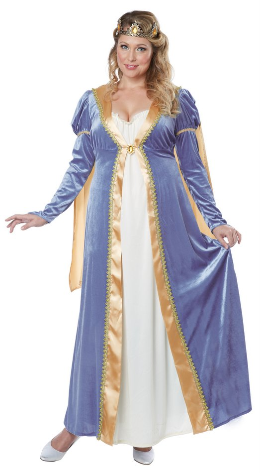Plus Size Womens Elegant Empress Renaissance Costume Candy Apple