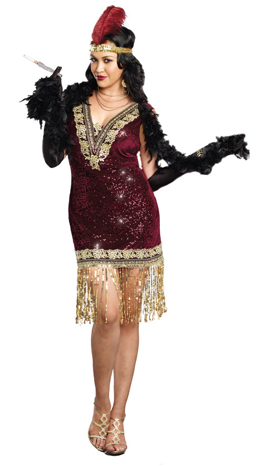 Women S Plus Sophisticated Lady Flapper Costume 20 S Costumes Deluxe Costumes