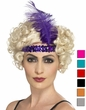 Sequin Flapper Headband & Plume