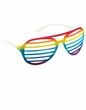 Rainbow Slotted 80's Glasses