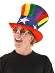 Rainbow Uncle Sam Top Hat