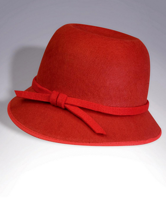 Red Cloche 20's Flapper Hat