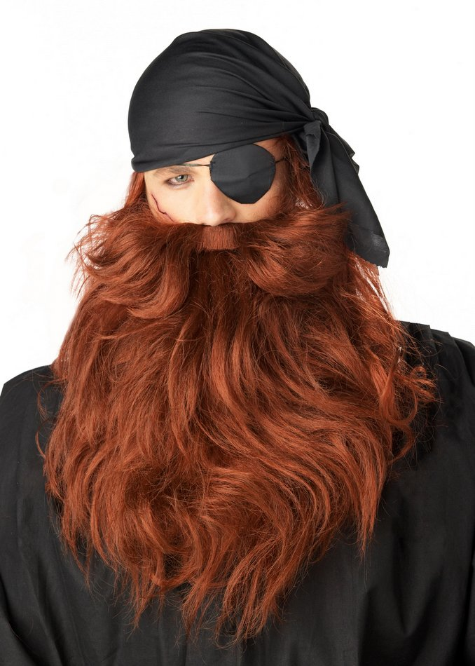 a851055af1d Red Pirate Beard and Mustache - Candy Apple Costumes - Pop Culture