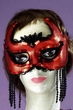 Red Sequin She Devil Mask