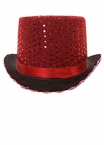 Red Sequined Top Hat