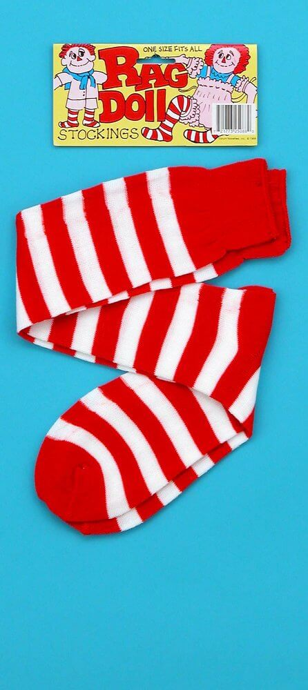 AMERICAN GIRL WHITE SOCKS WITH RED STRIPE  REPLACEMENT PART SEALED IN PACKAGE
