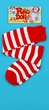 Red/White Striped Rag Doll Socks - Adult or Child