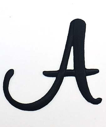 [Single Count] Custom and Unique to 1 Inches) American Alphabet Monogram  Letters Bold Script Capital Letter Z Iron On Embroidered Applique Patch  {Orange ...