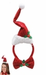Santa Hat Headband with Bowtie