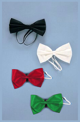Satin Bowtie - Black, White, Red, Green